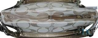 NEW COACH SIGNATURE BROOKE HOBO PURSE HANDBAG TOTE LIGHT KHAKI GOLD