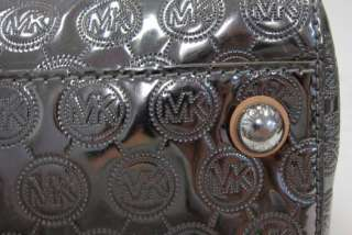Authentic Michael Kors Grayson Monogram Mirror Metallic Large Satchel