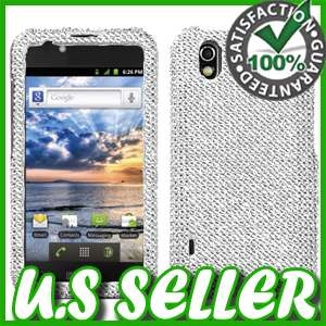 SILVER BLING HARD CASE FOR LG MARQUEE IGNITE AS855 LS855 PROTECTOR