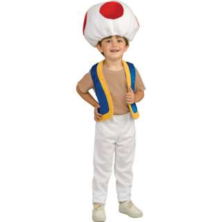 Child Video Game Super Mario Red Toad Mushroom Costume
