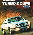 1983 FORD THUNDERBIRD TURBO COUPE FACTORY BROCHURE