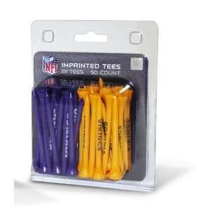 Minnesota Vikings NFL 50 imprinted tee pack