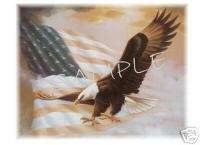 EAGLE and Old Glory T Shirt Iron On Decal Transfer |