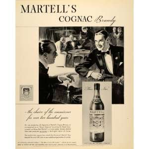 1934 Ad Martells Cognac Brandy Bottle France Party