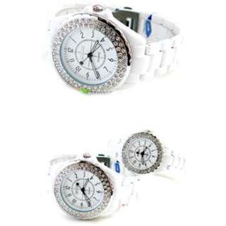 SINOBI Men lady luxury Crystal diamond Black couple lovers Wrist Watch