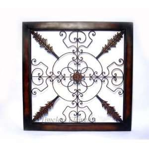 Metal Iron Wall Hanging Scroll Frame Plaque Decor  Kitchen