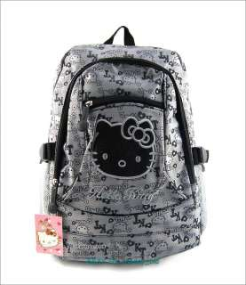 Hello Kitty student School Bookbag backpack shoulder bag 16H Grey