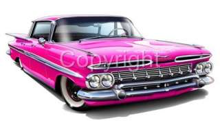 1959 Chevy Impala Lowrider Classic T Shirt #9441 NWT