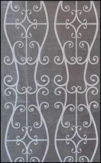Decorative Privacy Window Film White Pattern 9 Feet