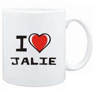 Mug White I love Jalie  Female Names
