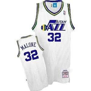 Utah Jazz #32 Karl Malone White Throwback Jersey Sports
