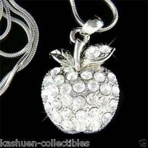 Swarovski Austrian Crystal JUICY APPLE Fruit Charm pendant Chain