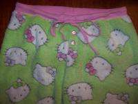 Junior M fleece sleep lounge pajama pants HELLO KITTY ~
