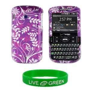 Purple Flower Design Snap On Hard Case for HTC Ozone