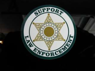 POLICE LAW ENFORCEMENT SUPPORT DECAL STICKER 3 HONDA CHEVY FORD