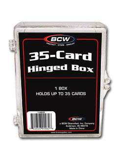 Plastic Hinged Storage Box 35 Card Count  100 to a case