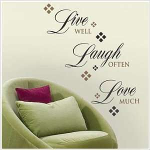 Live, Love, Laugh Wall Decal