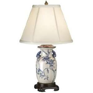 Blue White Floral Painted Ceramic Lamp LP52972