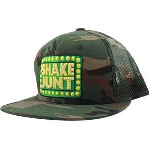 Shake Junt Box Logo Mesh Hat Adj [Camo]:  Sports & Outdoors