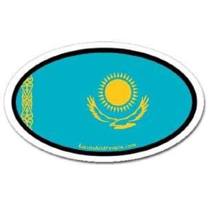 Kazakhstan Kazakh Flag Car Bumper Sticker Decal Oval