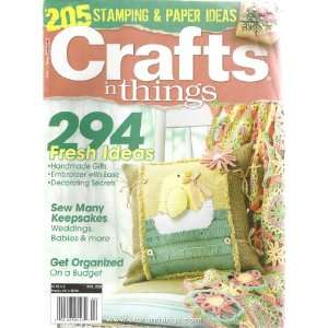 Crafts N Things Magazine April 2009 Books