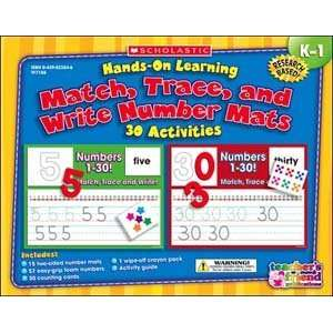 Hands On Learning: Match, Trace and Write Numbers Mats: Toys & Games