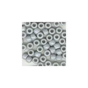 Gray Opaque Plastic Pony Beads 6x9mm, Super Value Pack