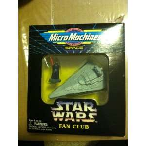 Star Wars Micro Machine Darth Vader and Imperial Star Destroyer Star