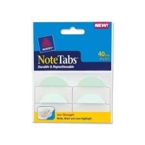 avery notetabs round edge file tab pastel blue green