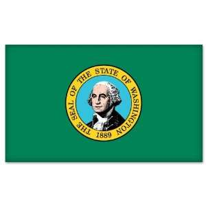 Washington State Flag car bumper sticker 5 x 4