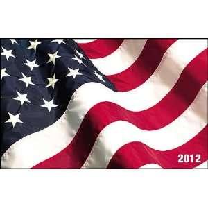 American Flag 2012 Wallet Card Calendar