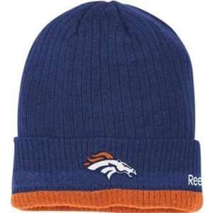 Denver Broncos Reebok 2010 Sideline Cuffed Knit Hat: Sports & Outdoors