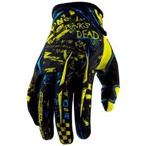 MX/Off Road/Dirt Bike Motorcycle Gloves   Color Yellow/Cyan, Size 9