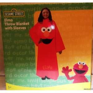 Sesame Street ELMO Big Face Throw w/Sleeves Youth Size Snuggle BLANKET