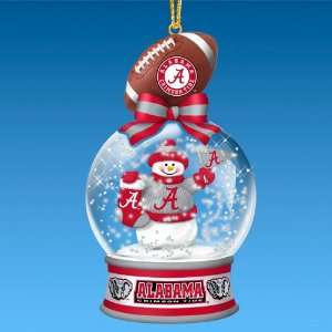 Alabama Crimson Tide Snow Globe Ornaments