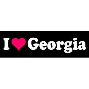 8 I Love Heart Georgia State Die Cut Vinyl Decal Sticker