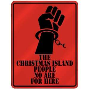 New  The Christmas Island People No Are For Hire  Christmas