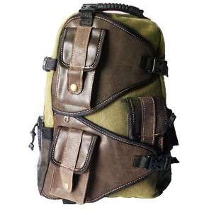 MILITARY INSPIRED CANVAS BACKPACK STYLISH DAY PACK