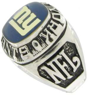 Football New York Giants Offical NFL Team Ring Sz 8
