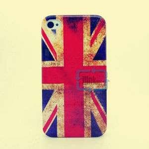 RETRO DESIGN BRITAIN FLAG ENGLAND UK FLAG HARD CASE COVER FOR iPhone 4