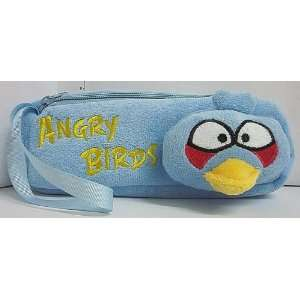 Blue Angry Birds Soft Plush Pencil Case Bag Everything