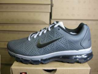NIKE MENS AIR MAX+ 2011 LEA DARK GREY BLACK