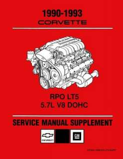 1990 1991 1992 1993 CHEVROLET CORVETTE Shop Service Repair Manual Book
