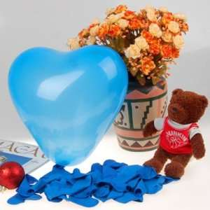 Heart Shaped Latex Balloons Wedding Party Decor Favors 12 Inch Blue