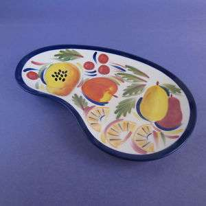 Strata Group Appetizer Plate Saucer Fruit Blue Pears