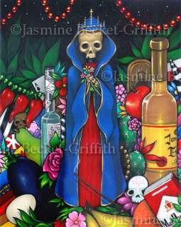 Santa Muerte Day of the Dead lowbrow folk art 8x10PRINT