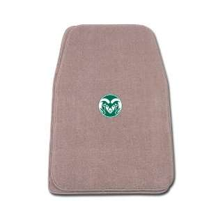 Beige Universal Fit Front Two Piece Floormat with NCAA Colorado State