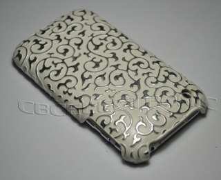 New Brown silver Embossed Hard case cover for iphone 3g 3gs