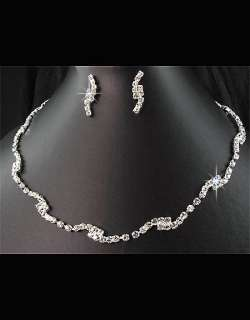Bridal Wedding Austrian Crystal Necklace Earrings Set