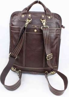 Real LEATHER Handbag SHOULDER BAG BackPack Laptop Cases